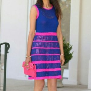 🧡Nanette Lepore Blue & Pink Flirt Crochet Dress
